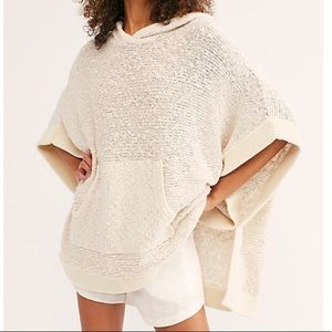 Free People FP Beach Easy Breezy Poncho Sweater